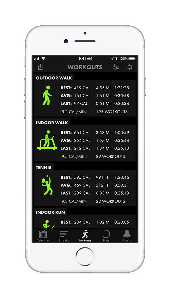 ATR Screenshot - Workouts