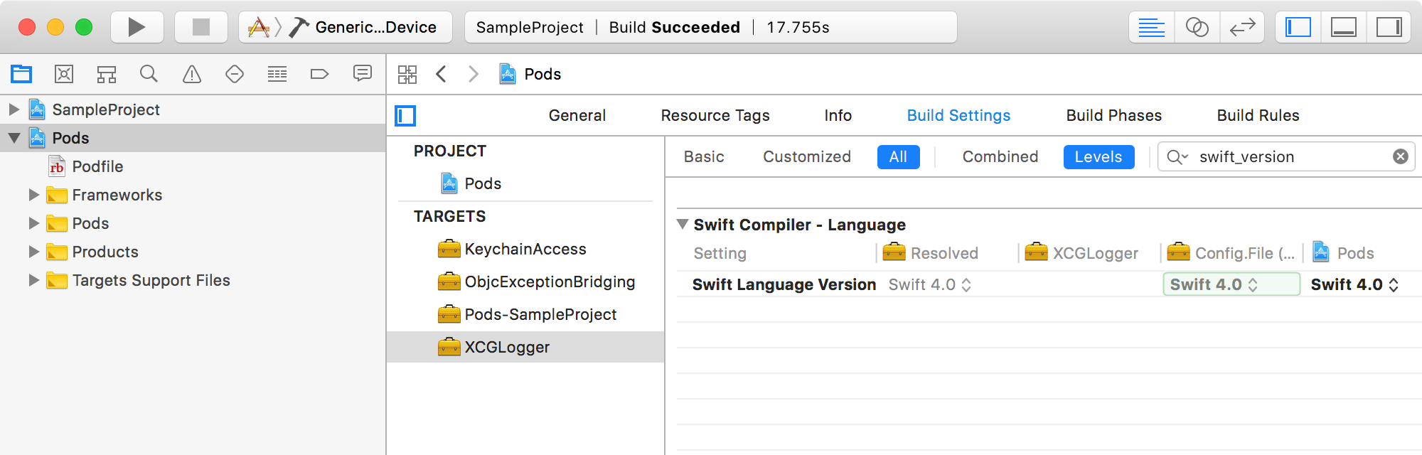 Mix and Match Swift 3 & Swift 4 Libraries with CocoaPods